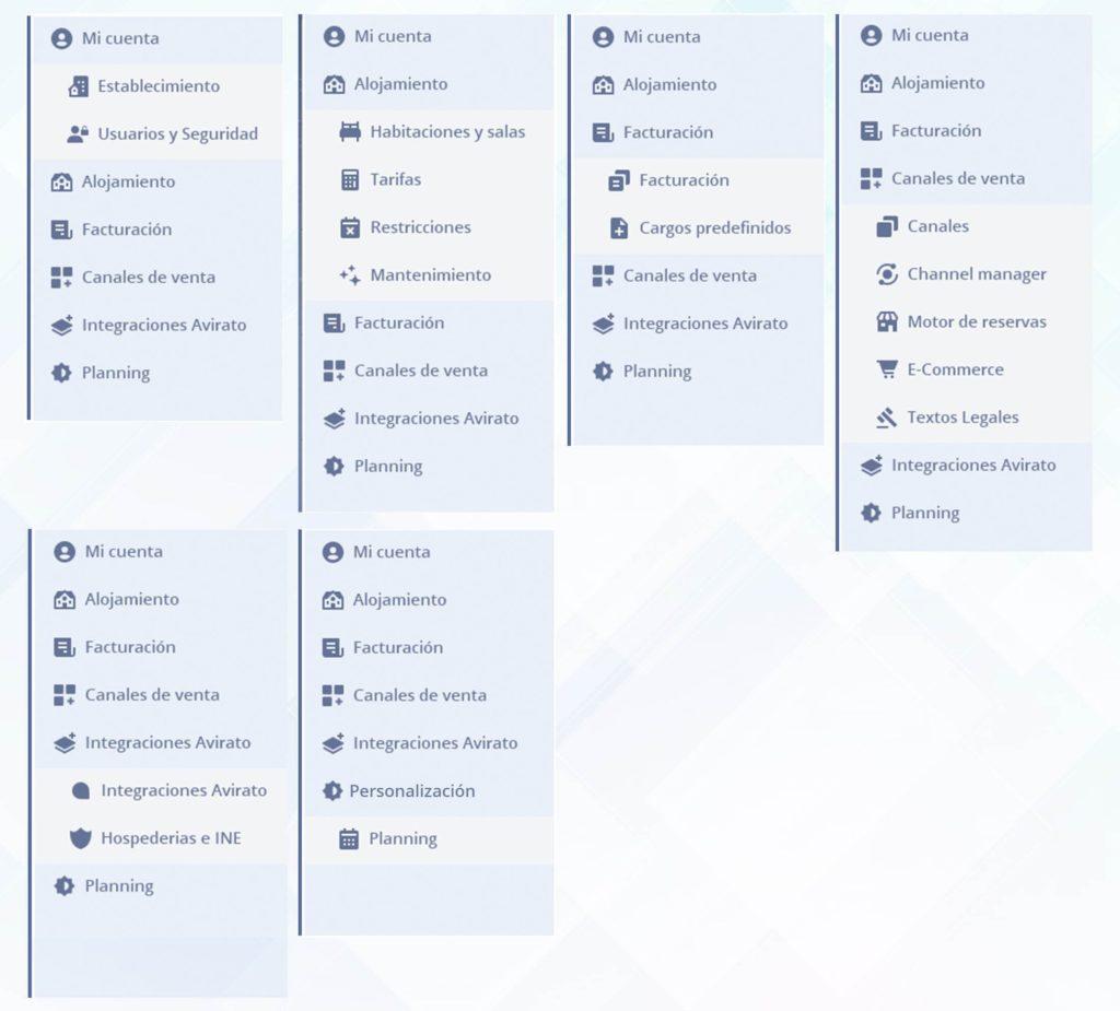 Actualización Menú navegación personalización