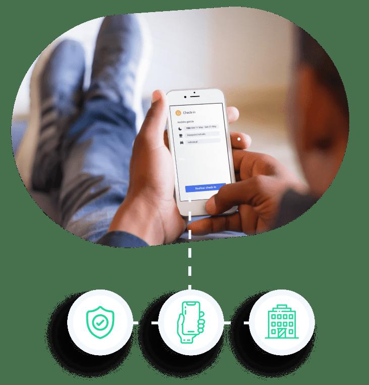Uso de la App móvil de Avirato para la gestión hotelera
